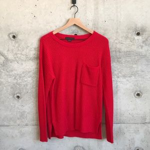 Sanctuary Bright red sweater